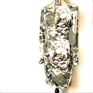 Jenifer Lopez camouflage body con dress NWOT